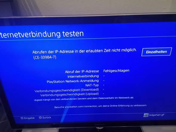Kann nicht mit mein LAN kabel bei ps4 verbinden?