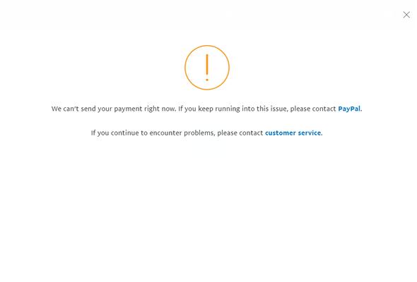 Paypal Zahlung Funktioniert Nicht