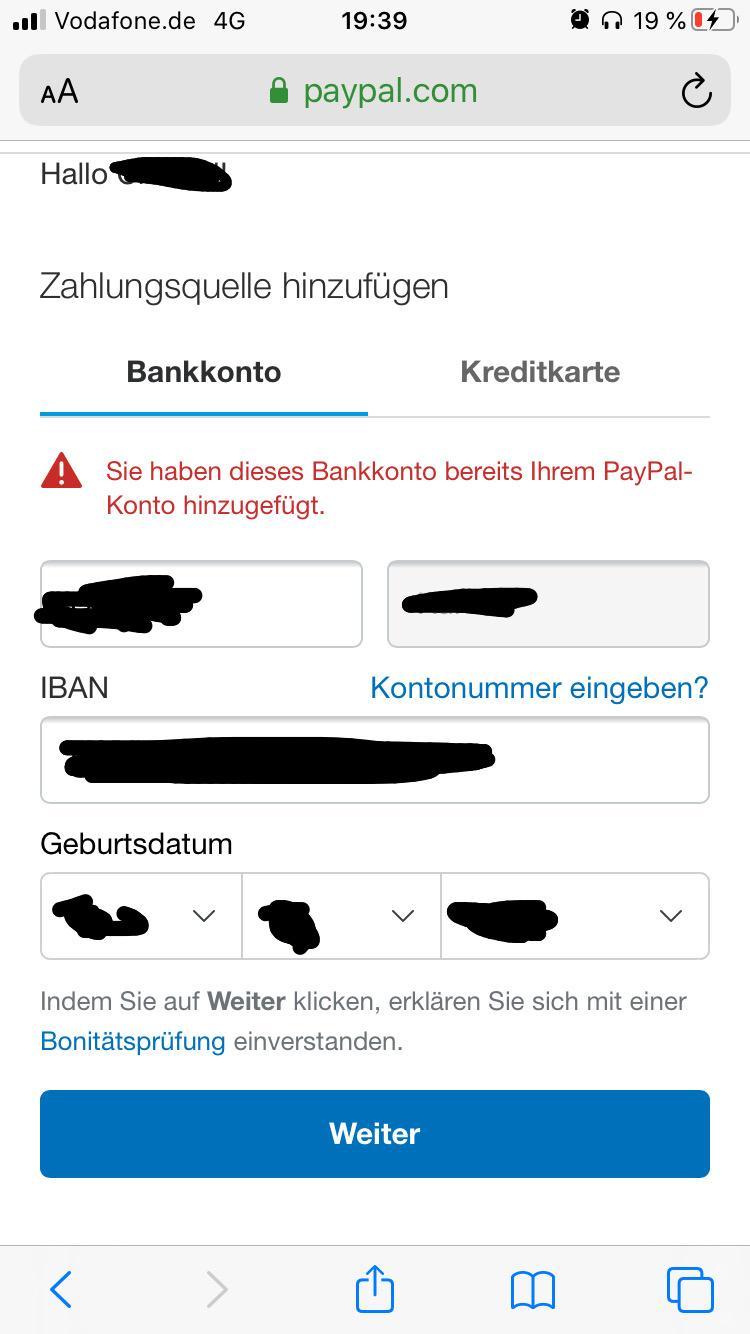 Paypal Zahlungsquelle Wurde Noch Nicht Autorisiert