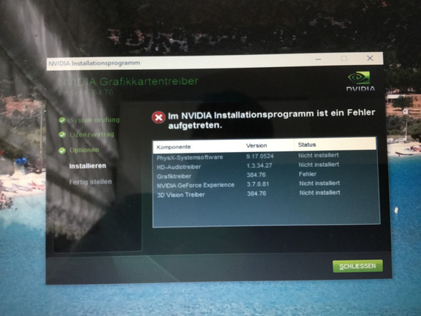 Fehler - (PC, Windows 10, Nvidia)