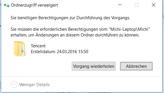 Löschen funktioniert nicht - (Computer, Windows)