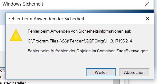 Sicherheit ändern funktioniert auch nicht - (Computer, Windows)