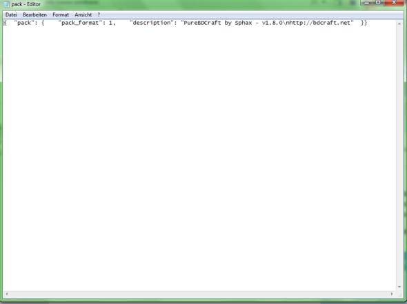 die Editor Datei die ich erstellt hatte - (Minecraft, Editor, texturepack)