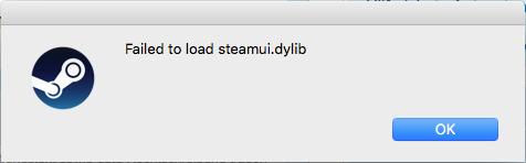 die Fehlermeldung  - (Steam, Mac)