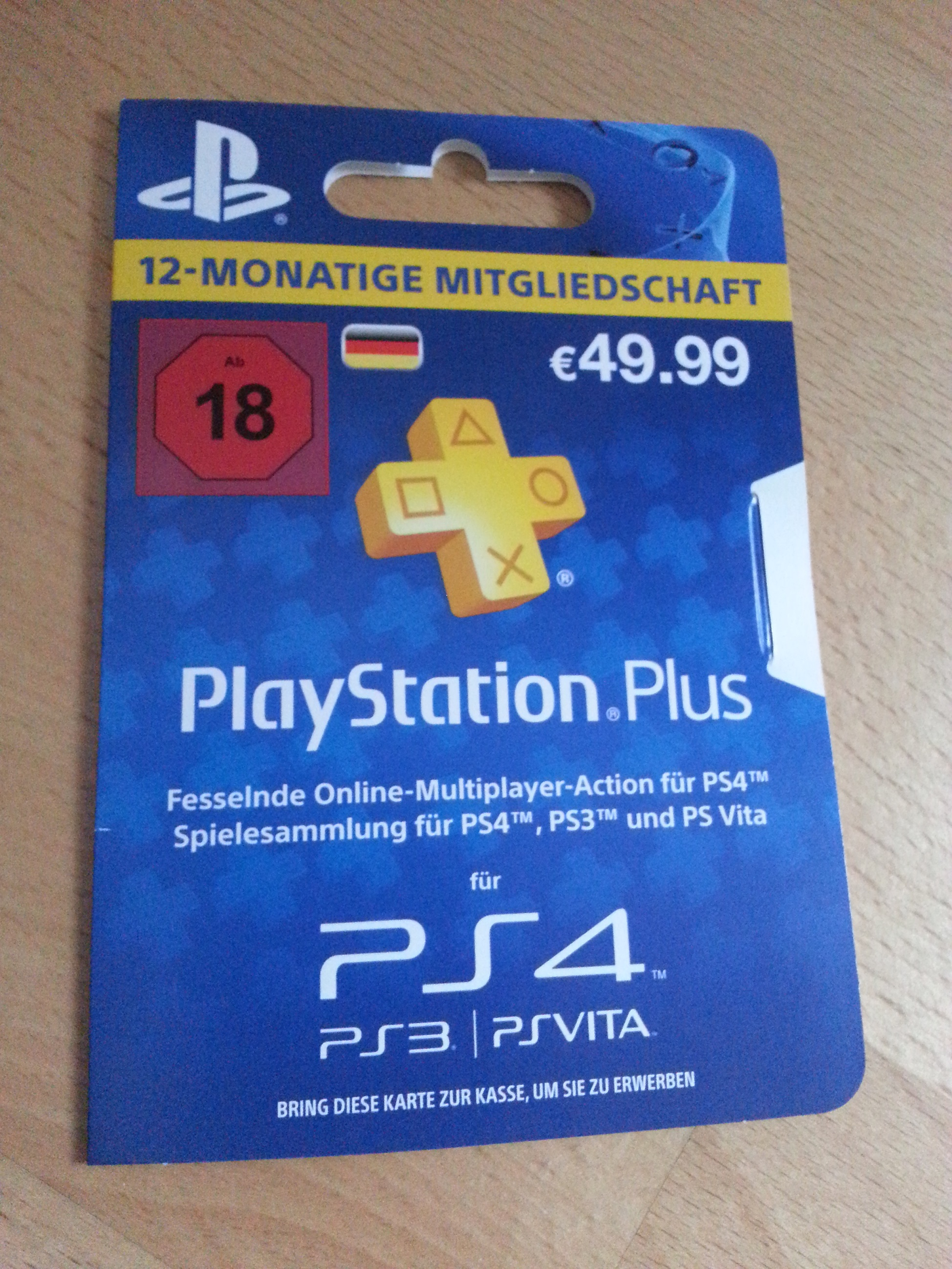 Ps Plus Karte.Playstation Plus Karte Kaufen Karte