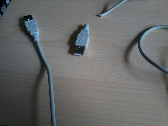 Kaputtes USB-Kabel - (Computer, PC, Technik)