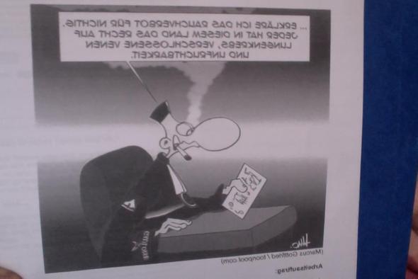 Karikatur - (Recht, Gesetz, rauchen)