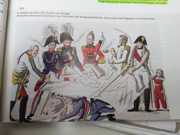 Karikatur Der Kuchen Der Konige Zum Wiener Kongress Schule