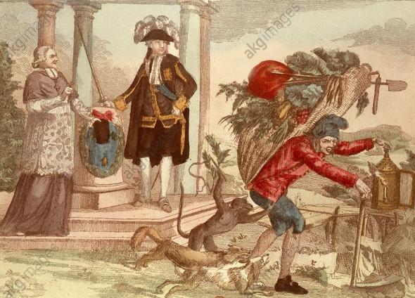 """""""Das wird nicht ewig dauern"""" 1789 - (Geschichte, Karikatur, französische revolution)"""