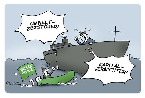 Greenpeace Moneyburner - (Schule, deutsch, Wirtschaft)