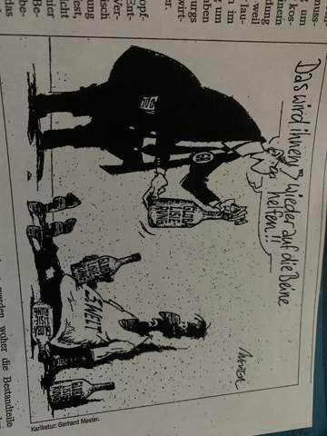 Karikatur Globalisierung interpretieren?
