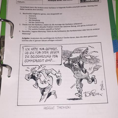 Karikatur - (Schule, Interpretation, Karikatur)