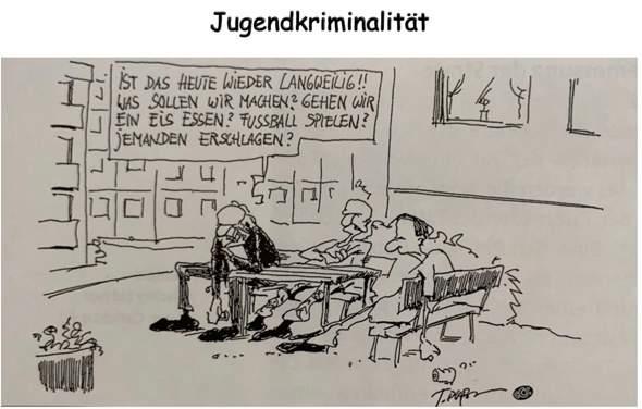 Karikatur: Jugendkriminalität?