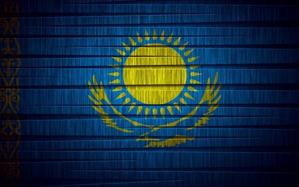 Das ist die flagge von Kasachstan - (Fremdsprache, Kasachstan, Kasachisch)