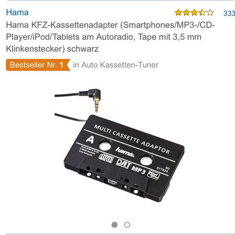 Kassetten aux Adapter  - (Radio, aux, kassette)