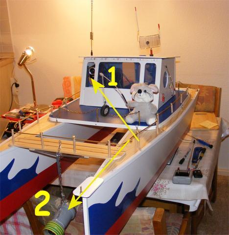 Unterwasser Nr.2 - (Elektronik, Antenne, Katamaran)
