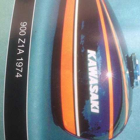Tank z900 - (Motorrad, Farbe, Orange)