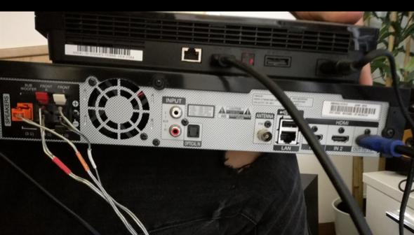 Musikanlage Rückseite - (Technik, TV, Playstation)