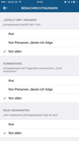 """Instagram (Account) meiner Freundin. Sie hat die """"Neuen Abonennten""""  - (instagram, Bug)"""