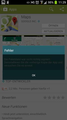 fehler : keine lizenz - (Play Store, app lizenz)