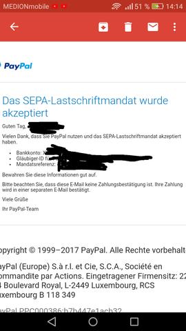 Paypal Keine Lastschrift Trotz Verifizierung