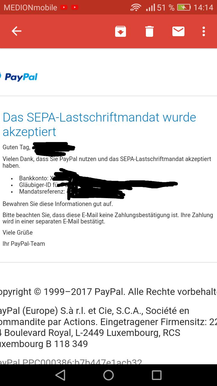Paypal Kein Lastschrift