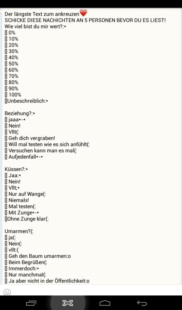 Kettenbriefe Whatsapp Fragen Beantworten