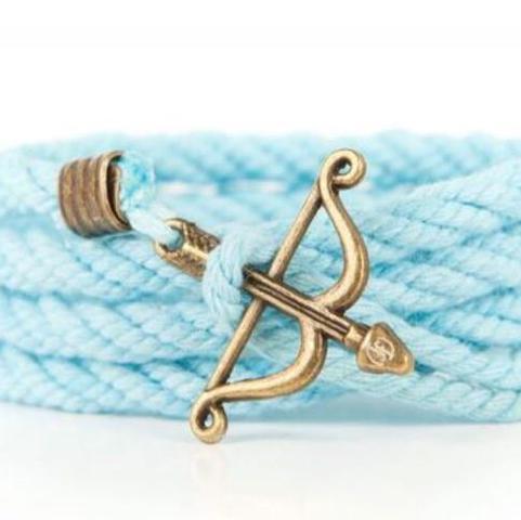 Armband mit Pfeil und Bogen aus Stoff - (Liebe, Armband, bogen)