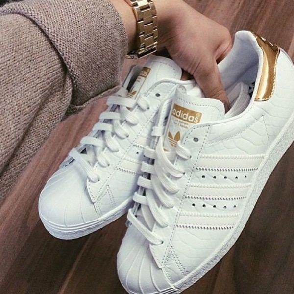 Adidas Superstars In Gold