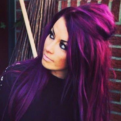 Das ist die Farbe Deep purple mit pink  - (woher, Haarfärbung, Deeppurple)