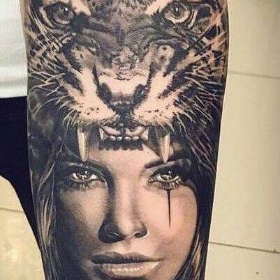 kennt jemannnd die bedeutung von diesem tattoo l we tiger ink. Black Bedroom Furniture Sets. Home Design Ideas