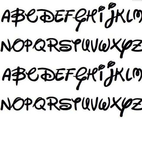 Diese Disney schrift - (Schrift, Schriftart, Disney)