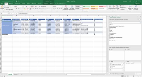 Bei Bild 2 sieht es aus wie es momentan ist.  - (Excel, Pivot)