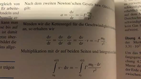 Kettenregel integrale/differentiale?