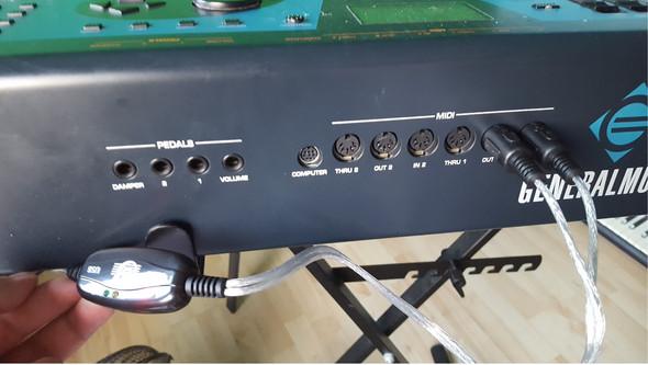 MIDI Kabel IN OUT - (Computer, audio, Kabel)