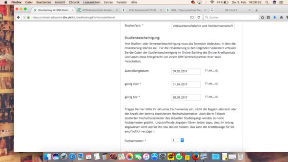 Screenshot  - (Studium, Kredit, Finanzierung)