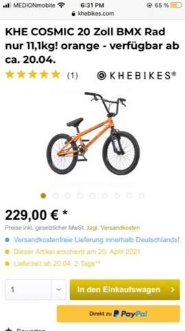 KHE bmx Rad - guter Kauf?