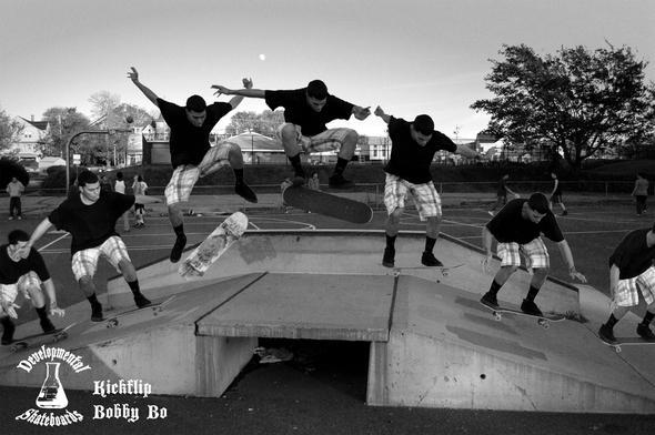 Der Kickflip - (skaten, Kickflip, vorderer Fuß)