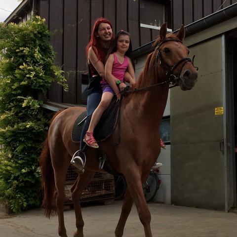 ich mit der Kleinen und meinem Pferd - (Angst, Kinder, Pferde)