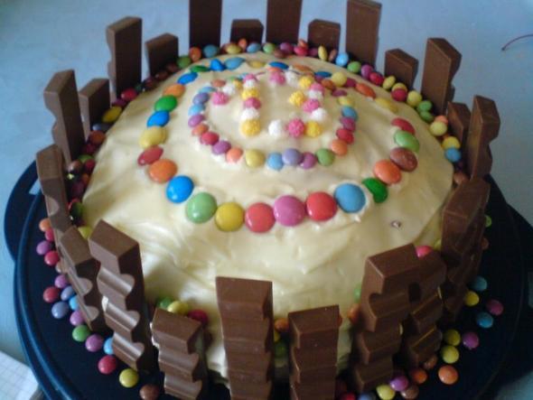 Kinderriegelkuchen Rezept Geburtstag Kuchen Kinderriegel