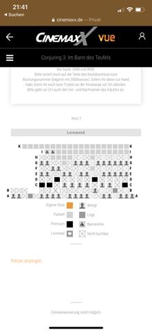Kino - Welcher Sitzplatz ist der beste?