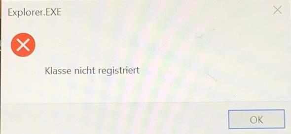 Klasse nicht registriert Microsoft?