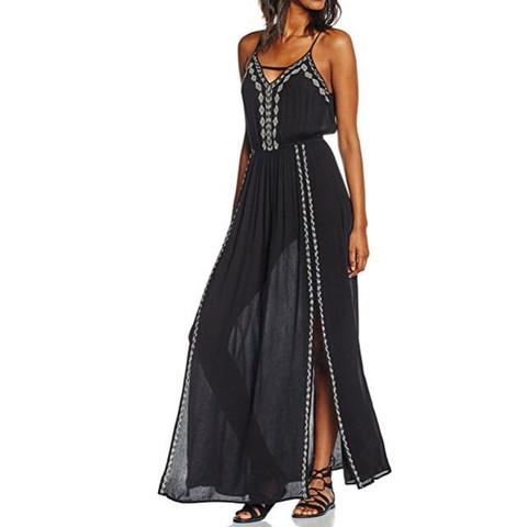 Maxikleid mit leichtem Stoff - (Kleid, Karneval, Fasching)