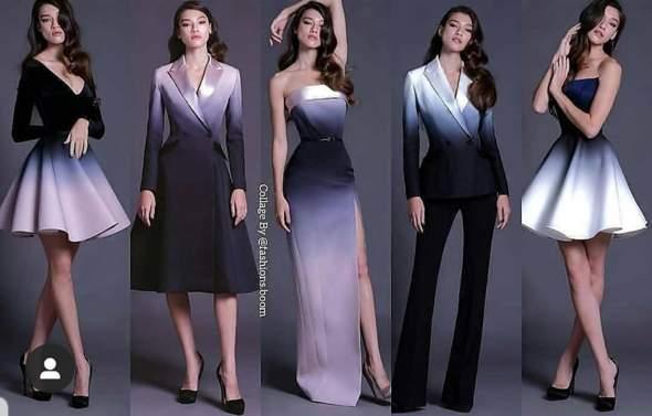 Kleid mit Farbverlauf wo zu finden?