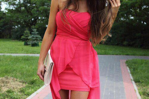 Pinkes Kleid - (Kleid, pink, cocktailkleid)
