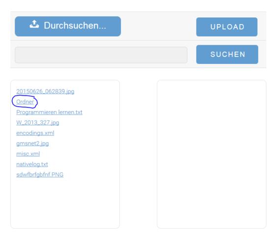 Der Ordner - (html, PHP)