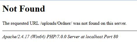 Der Error - (html, PHP)