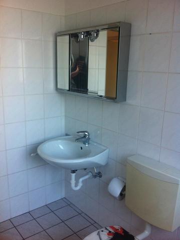 Kleines, Altes Badezimmer Billig Aufpeppen (haus, Wohnung, Haushalt) Bad Beige Aufpeppen