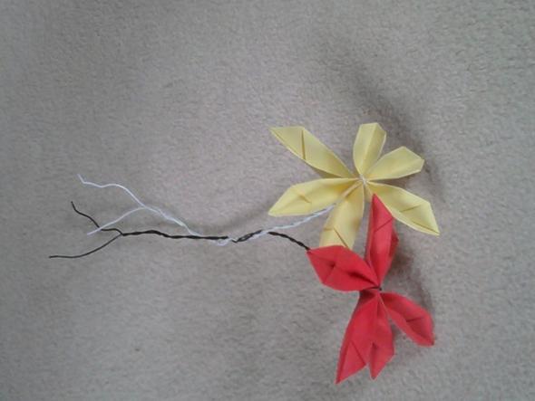 selbstgebastelte Papierblumen - (Freundin, Geburtstag, Geburtstagsgeschenk)