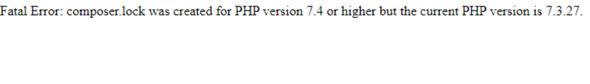 Kleines Problem mit Composer und PHP?